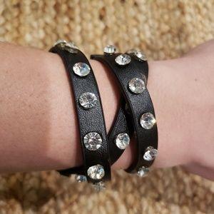 NWT Black Crystal Wrap Bracelet